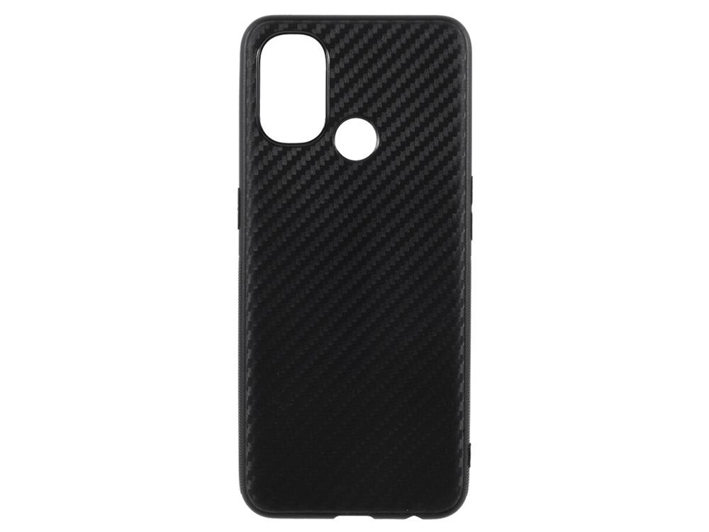 Силиконов калъф Carbon за OnePlus Nord N100, Черен