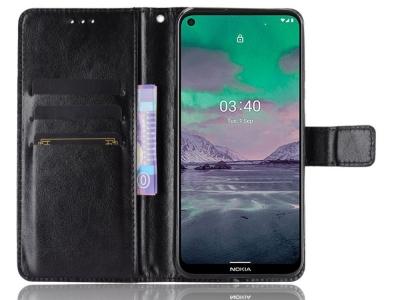 Калъф Тефтер Crazy Horse за Nokia 3.4, Черен