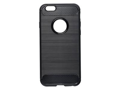 Силиконов Калъф Carbon Fibre за iPhone 6 / 6S, hole, Черен