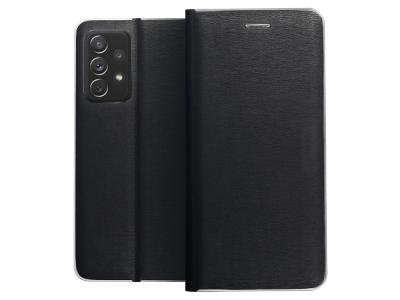 Калъф Тефтер LUNA за Samsung Galaxy A72 LTE (4G), Черен