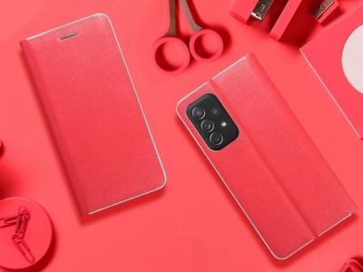 Калъф Тефтер LUNA за Samsung Galaxy A72 LTE (4G), Червен