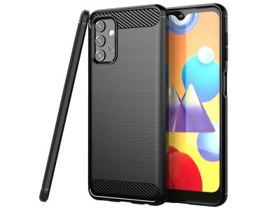 Силиконов Калъф Carbon Fibre за Samsung Galaxy A32 LTE (4G), Черен