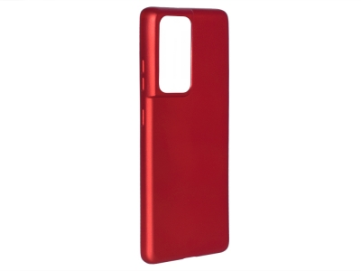 Силиконов гръб Level за Samsung Galaxy S21 Ultra, Червен