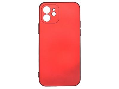 Силиконов Гръб Level за iPhone 12, Червен