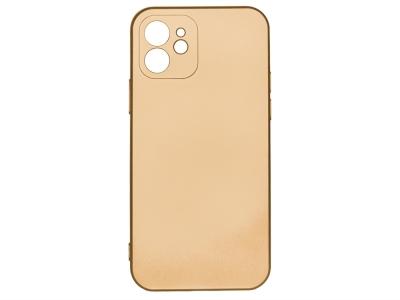 Силиконов Гръб Level за iPhone 12, Златист