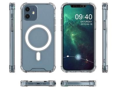 Удароустойчив Калъф MagSafe за iPhone 12 / 12 Pro, Прозрачен