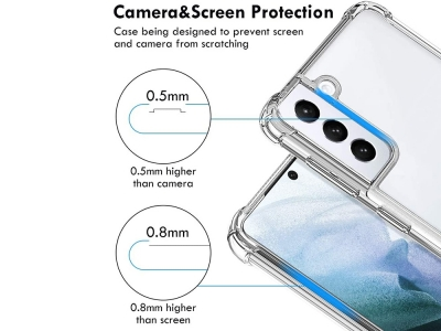 Силиконов калъф Drop Resistant за Samsung Galaxy S21 Plus, Прозрачен