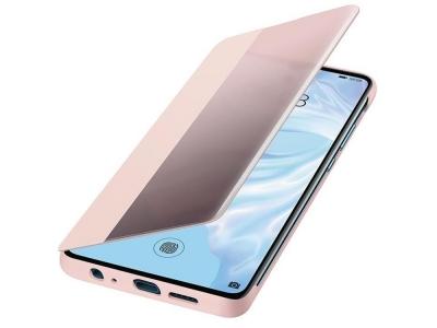 Оригинален Калъф Тефтер S-View Case за Huawei P30 , Розов