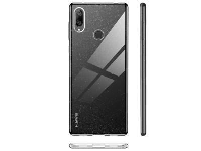 Силиконов Калъф с Брокат за Huawei Y7 (2019), Прозрачен