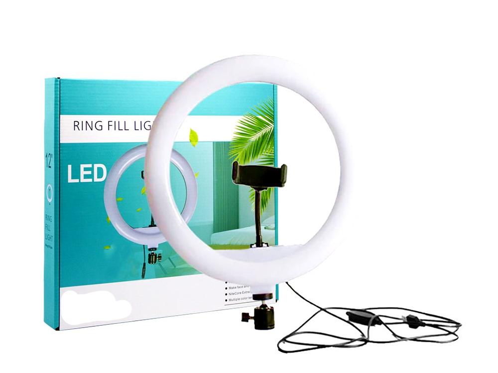 LED Ринг Лампа USB Лампа ринг CXB-300 - осветление за грим, влогърство, 12inch