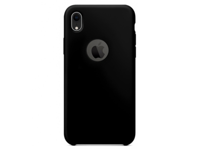 Калъф Гръб LUX за LUX за iPhone XR (with hole) , Черен
