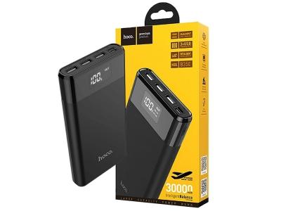 Универсална Външна Батерия Hoco B35E Entourage 3xUSB 30000mAh, Черен