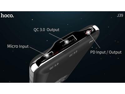 Универсална Външна Батерия Hoco Quick Energy J39 1xUSB+USB Type C PD QC 3.00 10000mAh, Черен