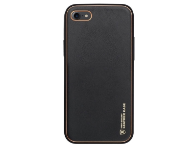 Удароустойчив калъф LEATHER за Iphone 7/8/SE 2020, Черен