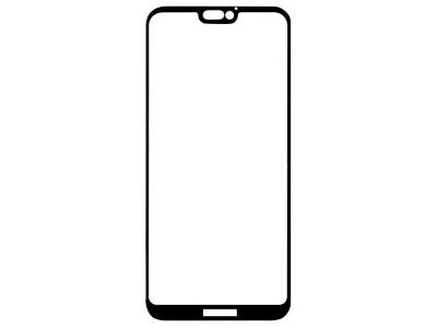 Стъклен Протектор 9D Full за Huawei P20 lite, Черен