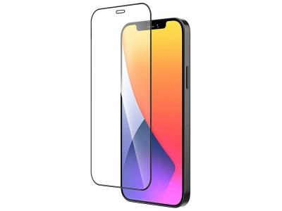 Стъклен Протектор 9D Full за iPhone 12 Mini, Черен