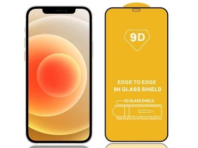 Стъклен Протектор 9D Full за iPhone 12 Pro Max, Черен