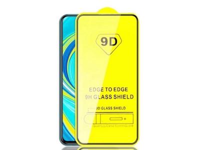 Стъклен Протектор 9D Full за Xiaomi Redmi Note 9S/Pro/Pro Max , Черен