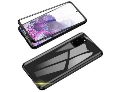 360 Алуминиев магнитен бъмпер за Samsung Galaxy  S20 FE, Черен