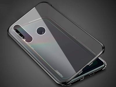 360 Алуминиев магнитен бъмпер за Huawei P40 Lite E, Черен