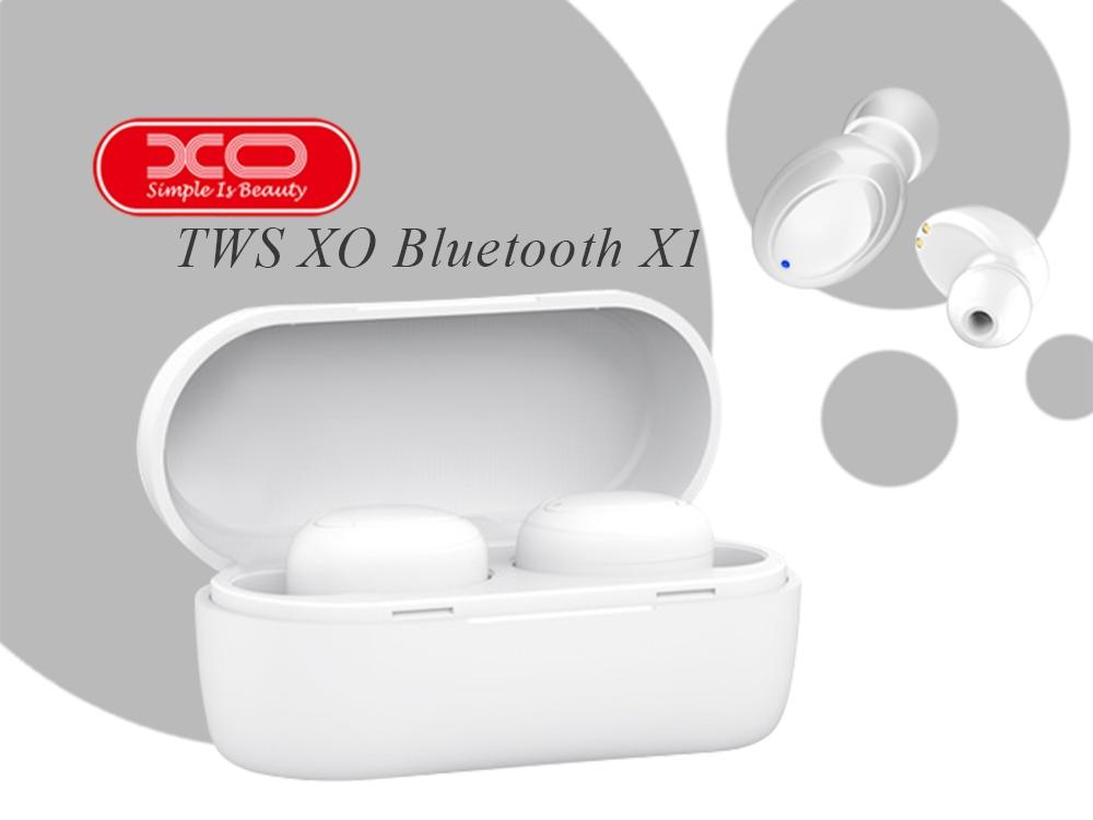 Слушалки TWS XO Bluetooth X1, Бял