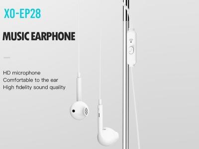 Слушалки с Микрофон - XO EP28 Jack 3.5mm, Бял
