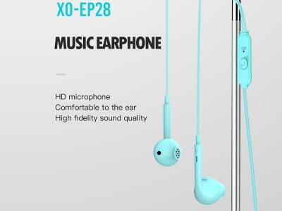 Слушалки с Микрофон - XO EP28 Jack 3.5mm, Син