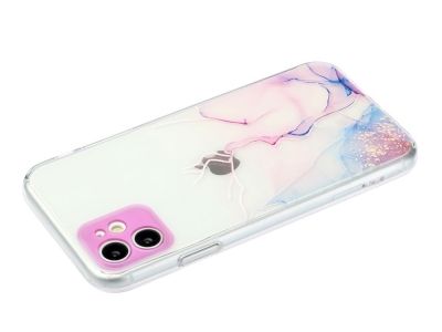 Силиконов калъф Marble за iPhone 11, Разноцветен мрамор