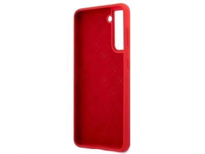 Оригинален Гръб Guess Vintage Cover за Samsung Galaxy S21, Червен