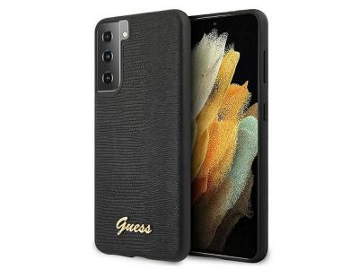 Оригинален Гръб Guess  LIZARD COLLECTION за Samsung Galaxy S21, Черен