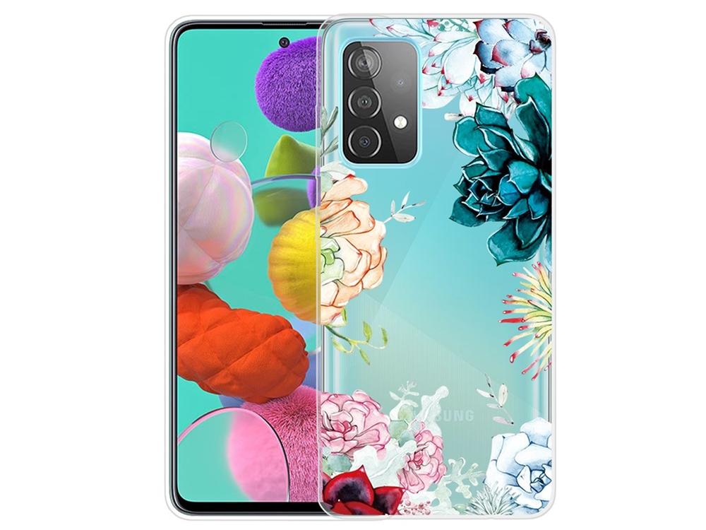 Силиконов калъф за Samsung Galaxy A72 4G/5G, Пъстри Цветя