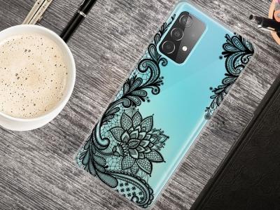 Силиконов Гръб за Samsung Galaxy A72 4G/5G, Дантела