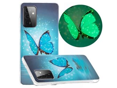 Силиконов Фосфоресциращ Гръб за Samsung Galaxy A72 4G/5G, Пеперуда