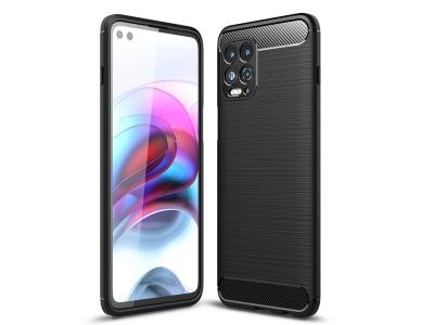 Силиконов Калъф Carbon Fibre за Motorola Edge S / Moto G100, Черен