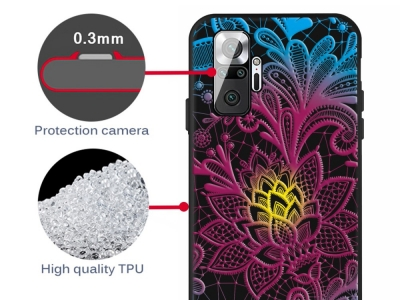 Силиконов калъф за Xiaomi Redmi Note 10 Pro Max / Redmi Note 10 Pro, Цветя