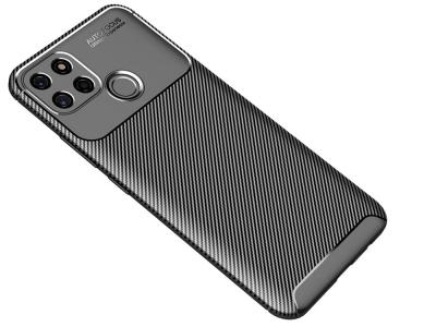 Силиконов Калъф Carbon Fibre за Realme C12, Черен
