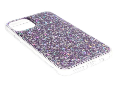 Силиконов калъф Flash Powder за iPhone 11, Лилав
