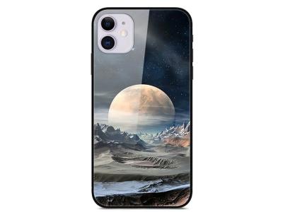 Стъклен Гръб Glass за iPhone 12 Pro / iPhone 12, Бяла планета