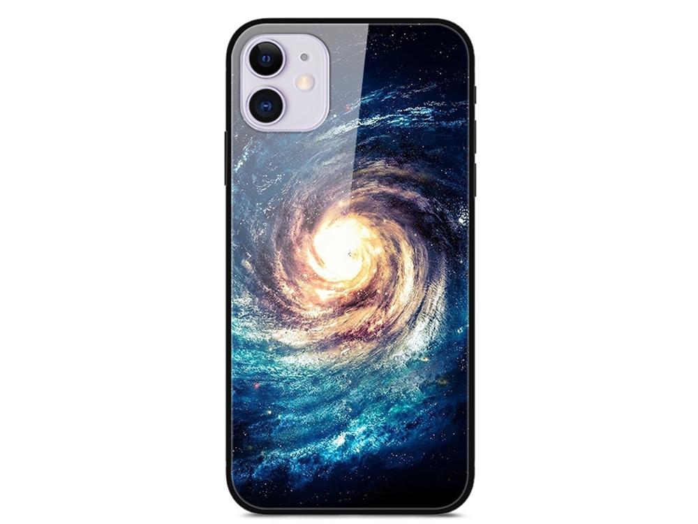 Стъклен Гръб Glass за iPhone 12 Pro / iPhone 12, Галактика