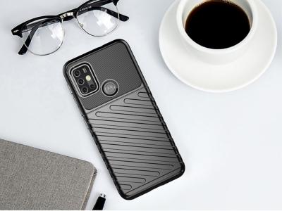 Силиконов Гръб Thunder за Motorola Moto G30 / Moto G10, Черен