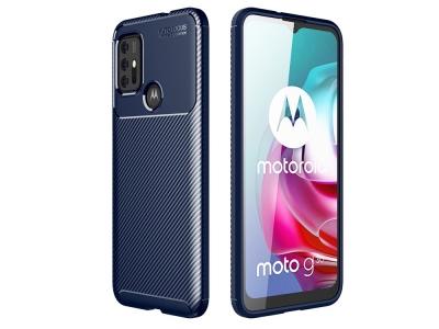 Силиконов Калъф Carbon Fibre за Motorola Moto G30, Син