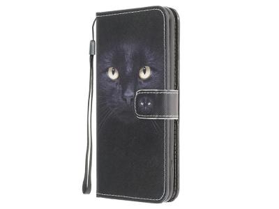 Калъф Тефтер Leather за Motorola Moto G30/ G10, Котешки очи