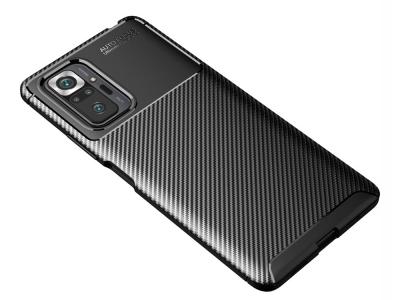 Силиконов Калъф Carbon Fibre за Xiaomi Redmi Note 10 Pro, Черен