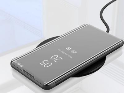 Калъф Тефтер View Window Mirror за Xiaomi Redmi Note 10 Pro/Redmi Note 10 Pro Max, Черен