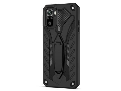 Удароустойчив калъф Kickstand за Xiaomi Redmi Note 10S / Note 10 4G, Черен