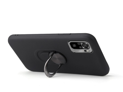 Удароустойчив калъф Kickstand за Xiaomi Redmi Note 10 4G, Черен