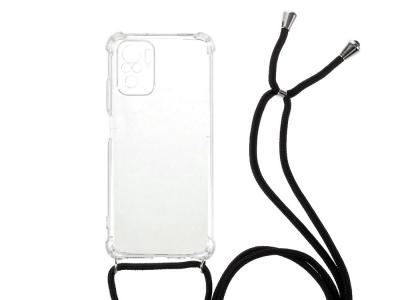 Силиконов Гръб Shockproof с връзка за Xiaomi Redmi Note 10 Pro, Прозрачен