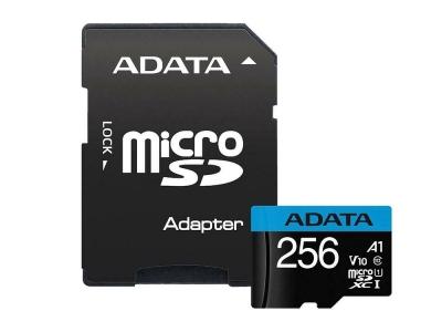 Карта памет 256GB ADATA SDXCM+A UHS-I CL-10 A1