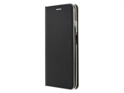 Калъф Тефтер LUNA Silver за Xiaomi Redmi Note 10 / 10S,  Черен