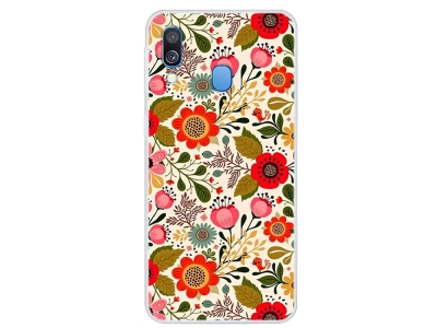Силиконов калъф за Samsung Galaxy A40, Красиви Цветя
